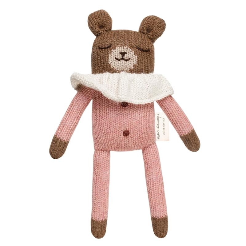 Kuscheltier 'Bär' Alpakawolle rosa
