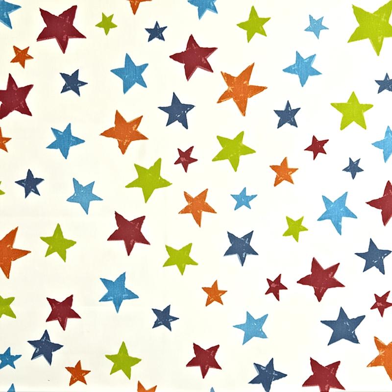 Kinderzimmer Stoff 'Sterne' blau/grün