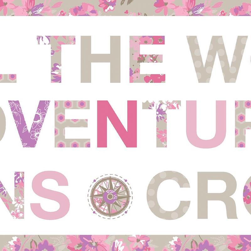 Bordüre 'Pretty Lili' Travel rosa/pink