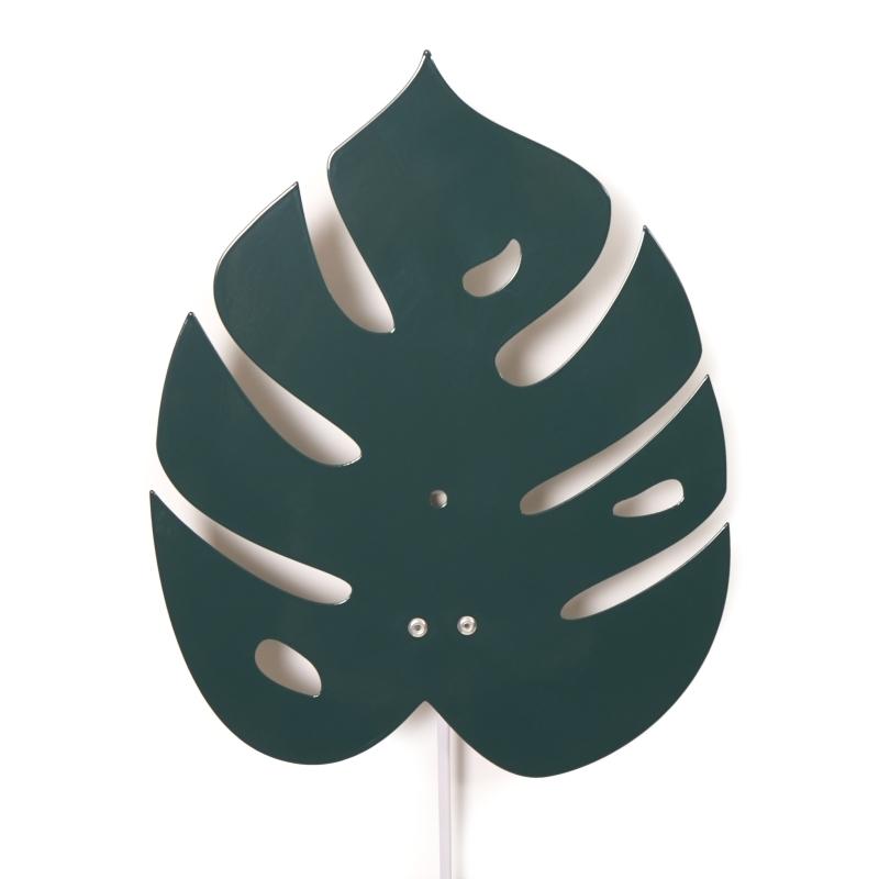 Wandlampe 'Monstera Blatt' Metall grün 30cm