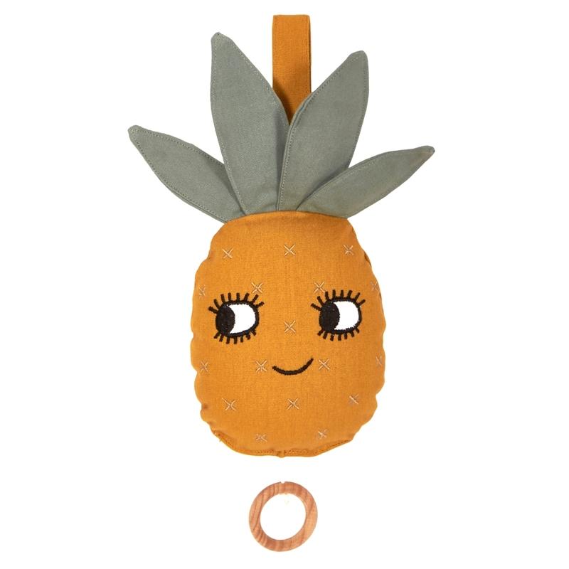 Bio Spieluhr 'Ananas' senfgelb