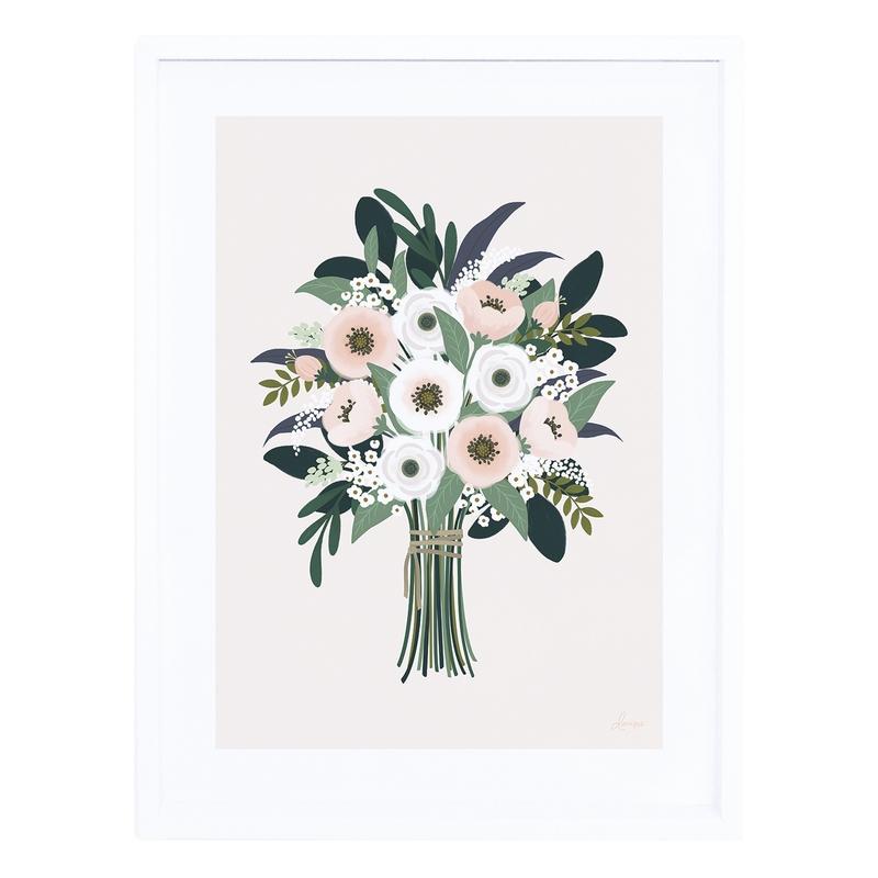 Bild 'Wonderland' Blumen puder 30x40cm