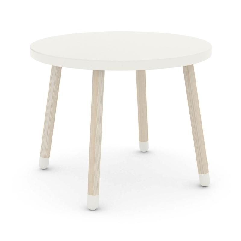 Play Tisch weiß MDF/Esche massiv 60cm