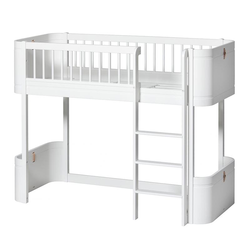 Halbhochbett 'Mini+' weiß 68x162cm