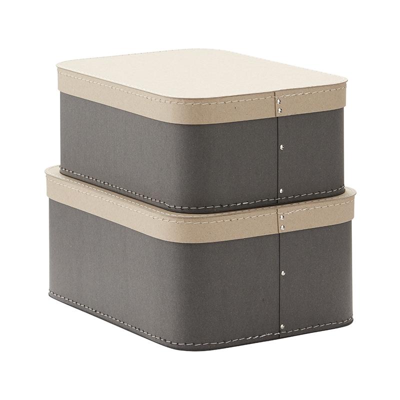 Aufbewahrungsboxen 'Neo' grau 2er Set