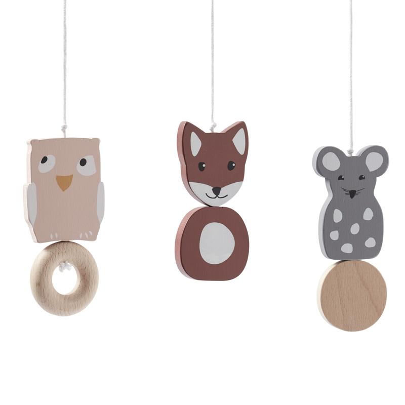 Spielbogen-Anhänger 'Waldtiere' Holz 3er-Set