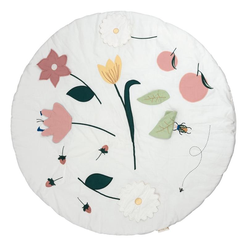 Spieldecke 'Blumen' rosa 100cm