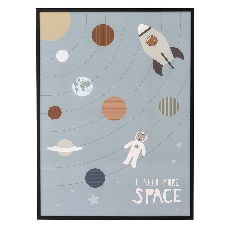 Kinderzimmerbild 'Weltraum' grau 52x72cm