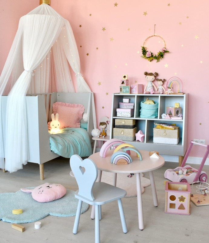 Spielzimmer für Mädchen in Pastellfarben
