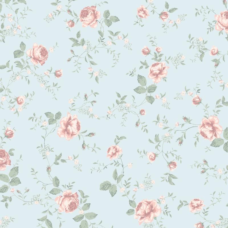 Tapete 'Newbie' Rosen softblau/rosa