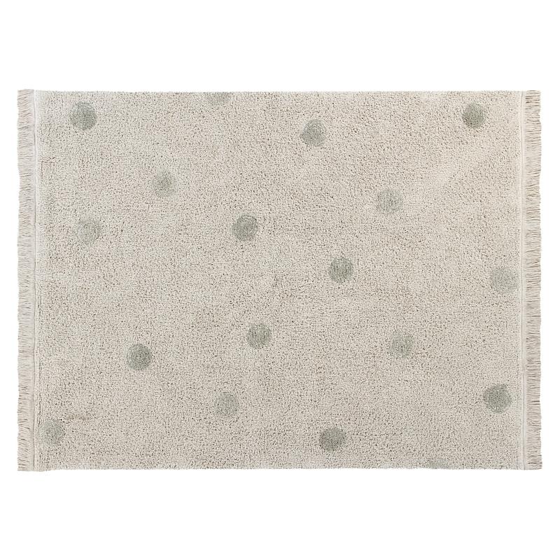 Teppich 'Hippy Dots' creme/oliv 120x160cm