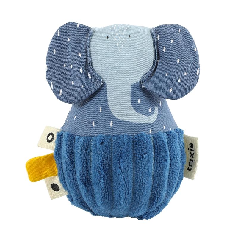 Steh-auf-Tier 'Elefant' blau ca. 12cm