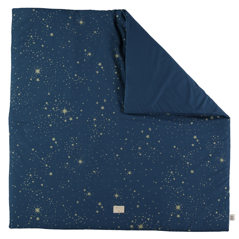 Spielmatte 'Gold Stella' dunkelblau 100x100cm