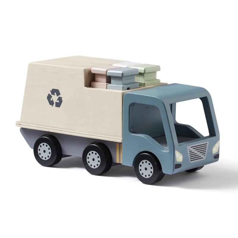 Müllauto aus Holz natur/blau ab 18 Monaten