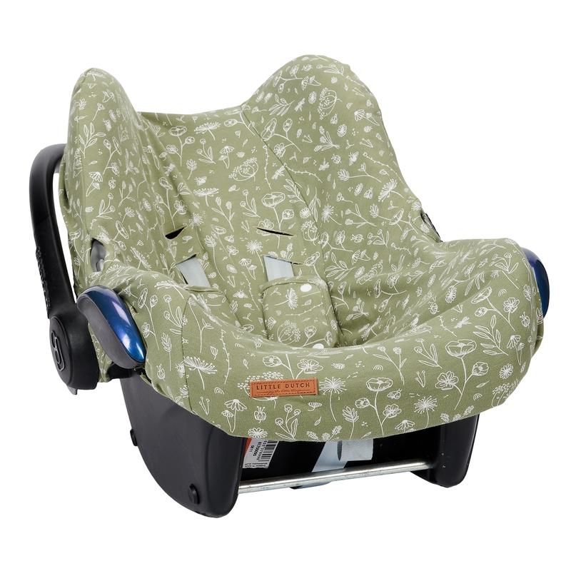 Sitzbezug 'Wild Flowers' oliv für Babyschale
