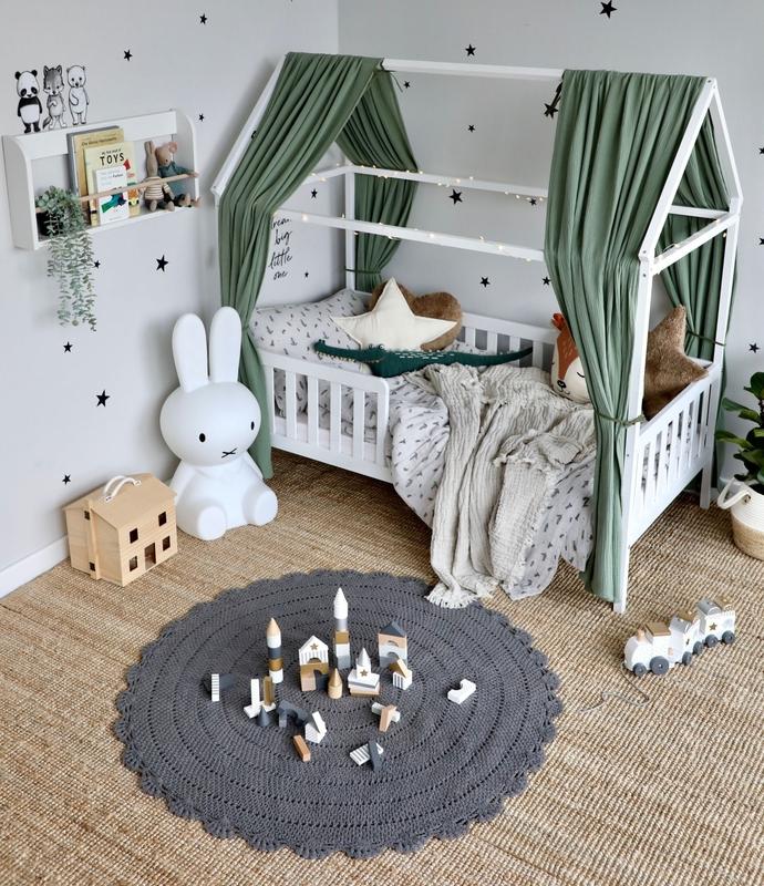 Hausbett Zimmer in Khaki & Grau