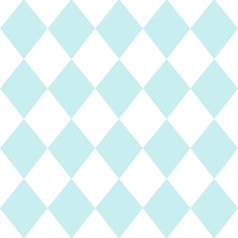 Kindertapete 'Rauten' hellblau/weiß