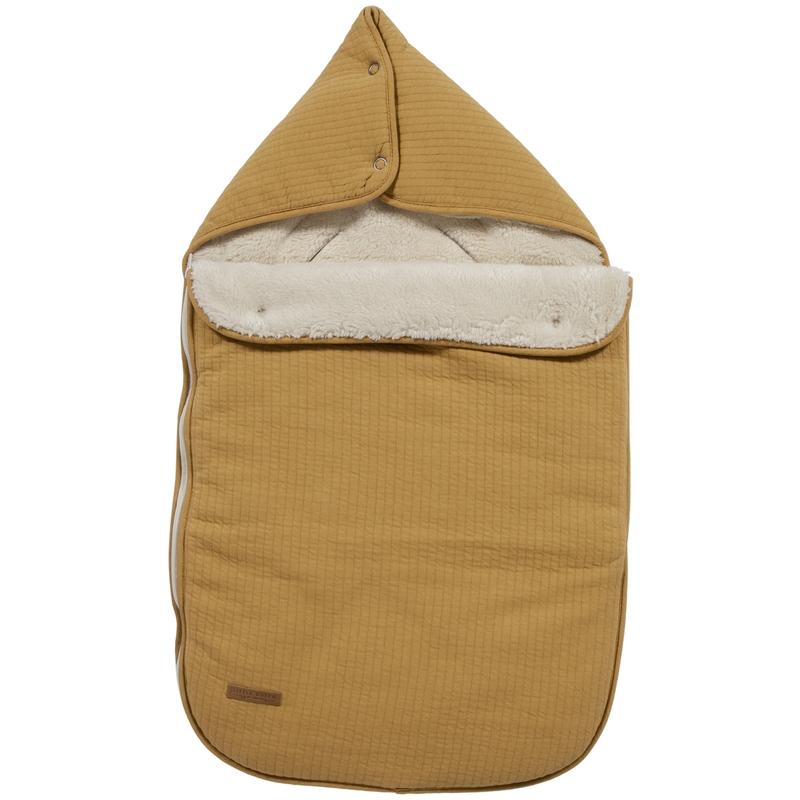 Baby-Fußsack 'Pure' senfgelb Jersey/Teddy