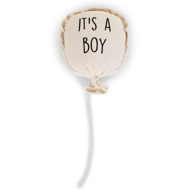 Luftballon für die Wand 'It´s a boy' creme 80cm