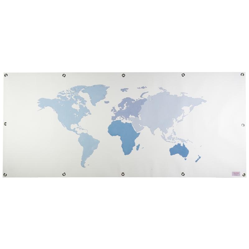 Plane für Spielbett & Häuschen 'Weltkarte' blau
