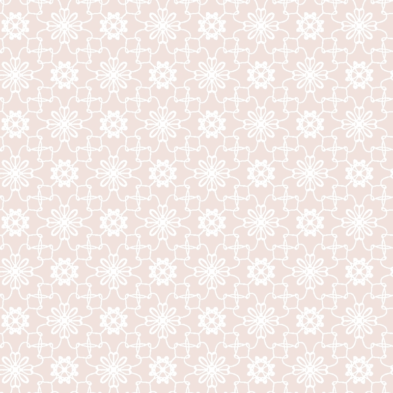 Tapete 'Blumen Mosaik' puderrosa