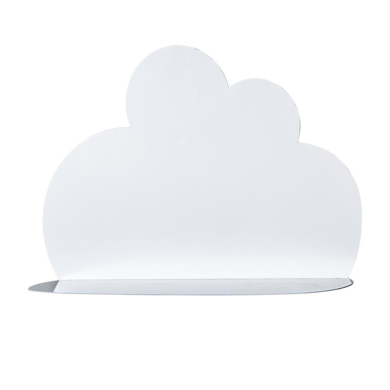 Wandregal 'Wolke' Metall weiß 40x30cm