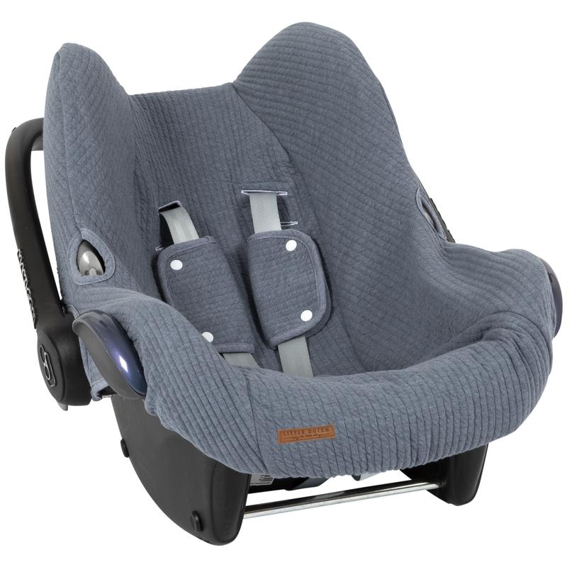 Sitzbezug 'Pure' rauchblau für Babyschale