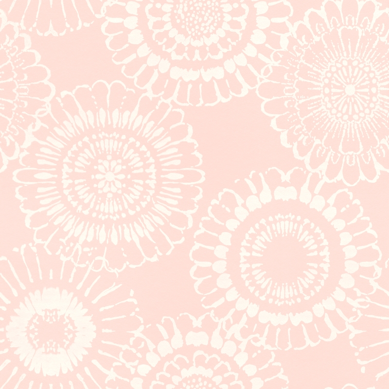 Vliestapete 'Mandala Blüte' rosa