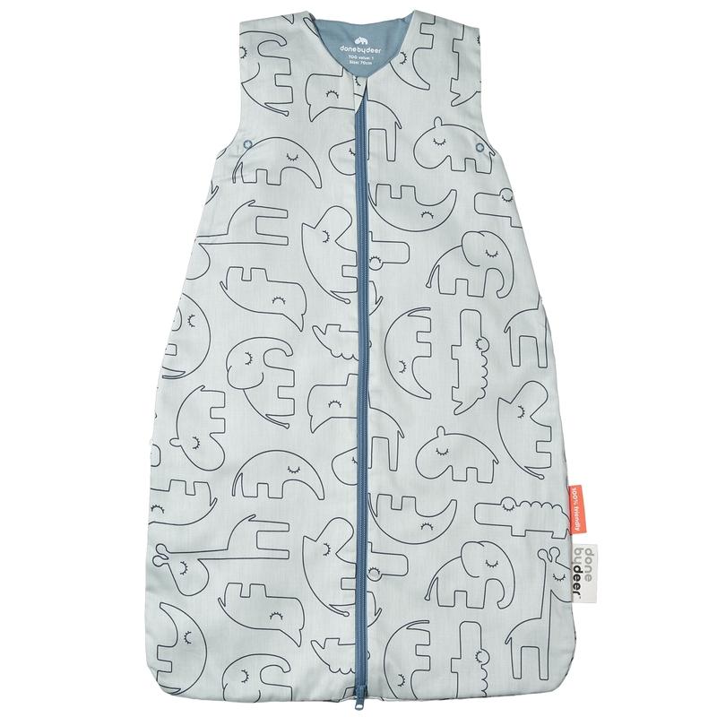 Sommerschlafsack 'Sleepy Friends' blau 90cm