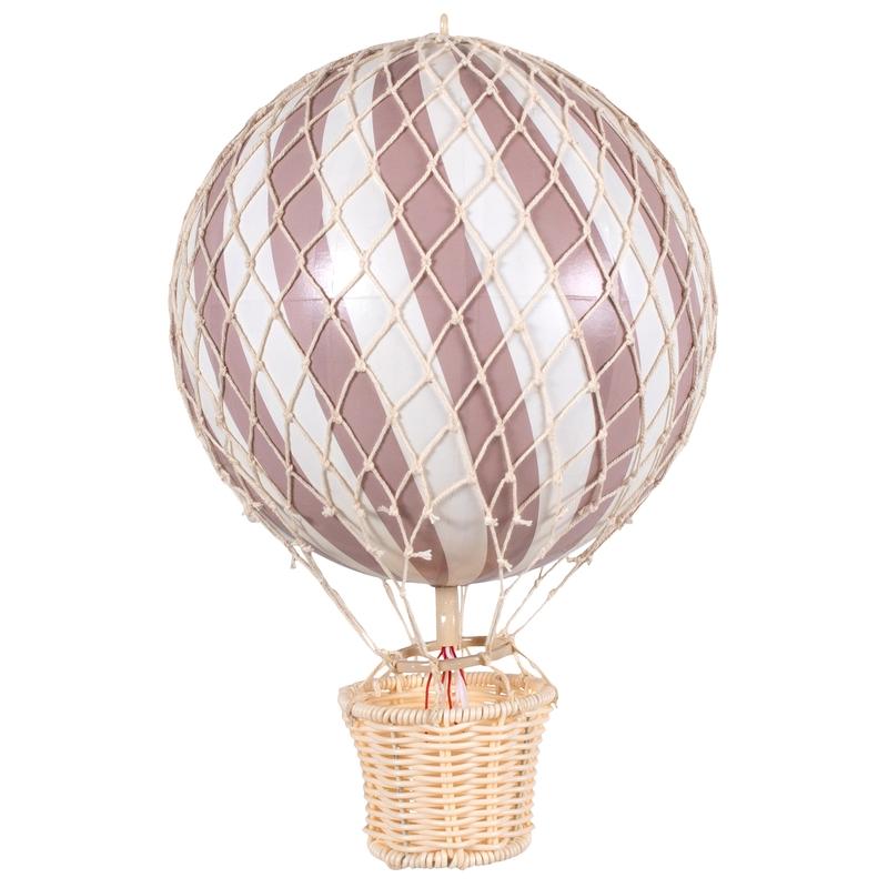 Heißluftballon altrosa ca. 20cm handmade