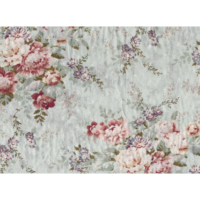 Fototapete 'Vintage Blossom' grau 360x265cm