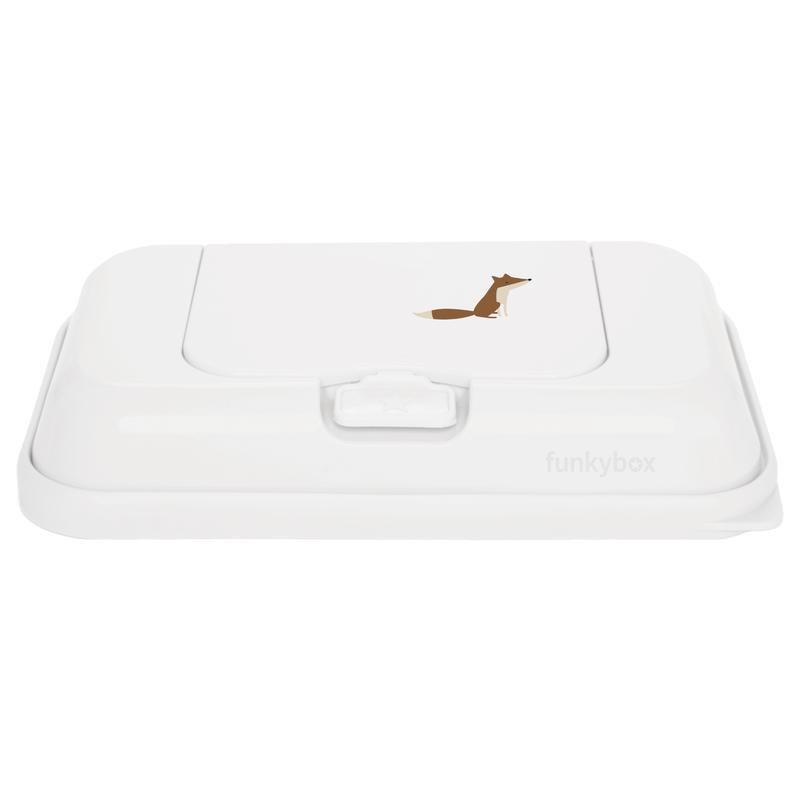 Feuchttücherbox To-go 'Fuchs' weiß 21cm