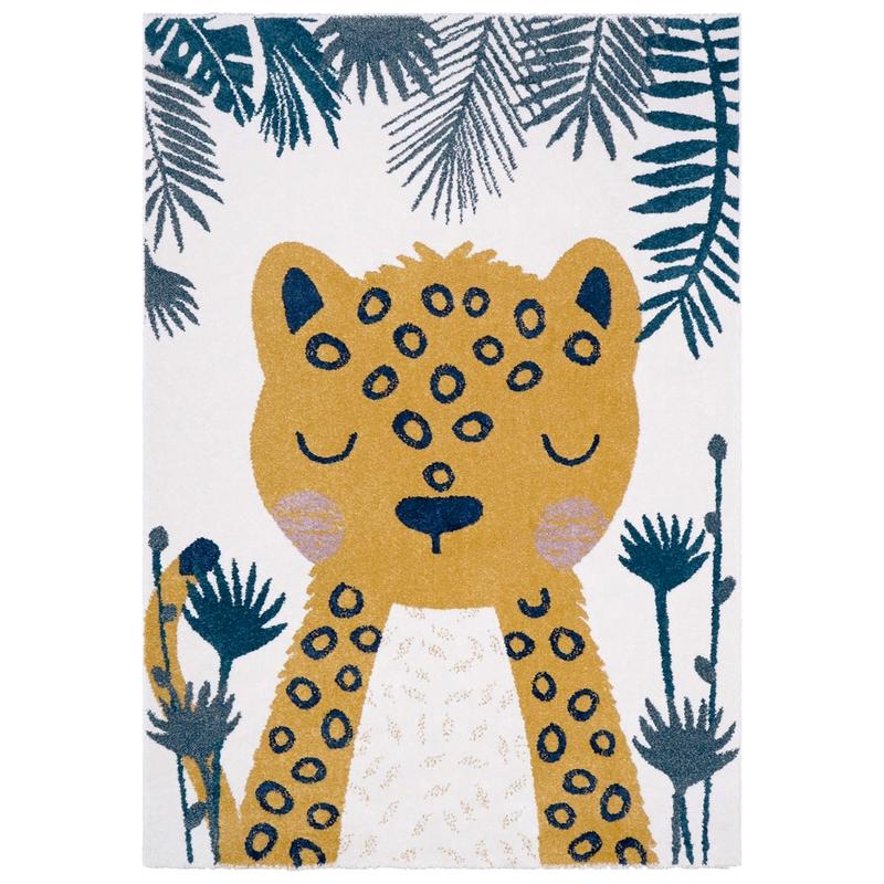 Teppich 'Leopard' senf/grau 120x170cm