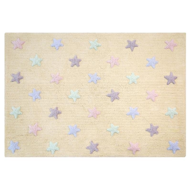 Teppich 'Sterne' pastell 120x160cm waschbar