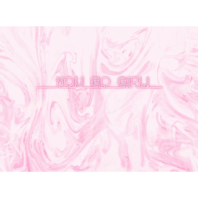 Fototapete 'You Go Girl' rosa 360x265cm