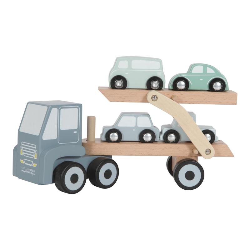 Autotransporter aus Holz blau ab 18 Monaten