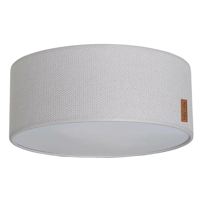 Deckenlampe 'Classic' Strick grau 35cm