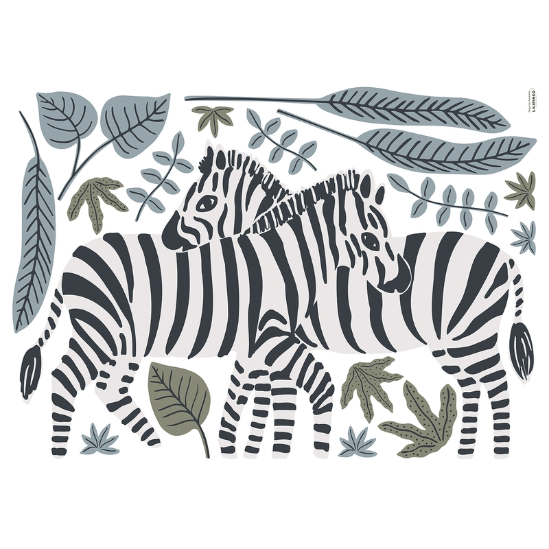 XL-Wandsticker 'Tanzania' Zebras