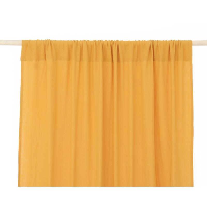 Vorhang Musselin senfgelb ca. 146x280cm