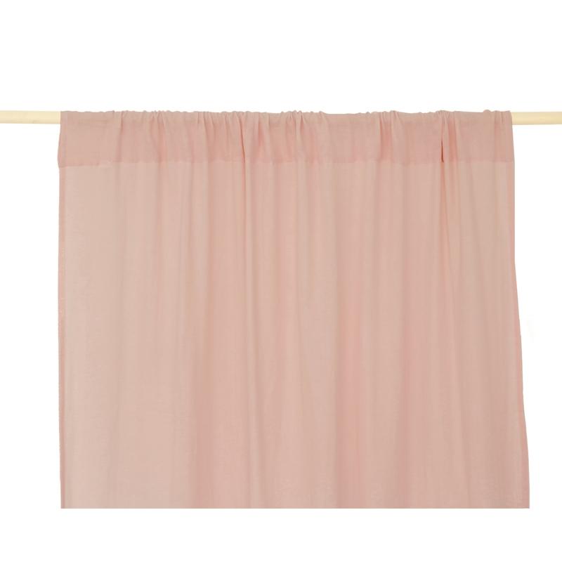Vorhang Musselin puderrosa ca. 146x280cm