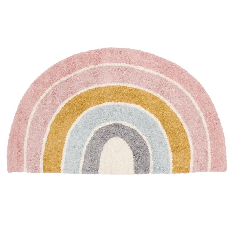 Teppich 'Regenbogen' rosa waschbar