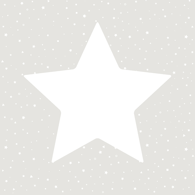 Kindertapete 'Sterne' hellgrau/weiß