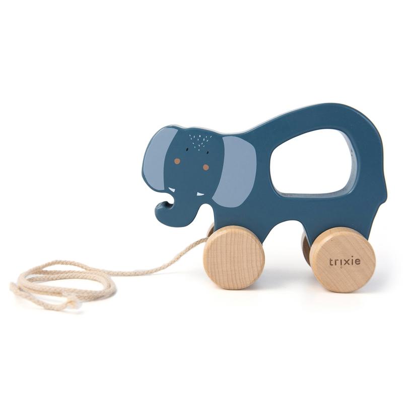 Nachziehtier 'Elefant' Holz blau ab 1 Jahr