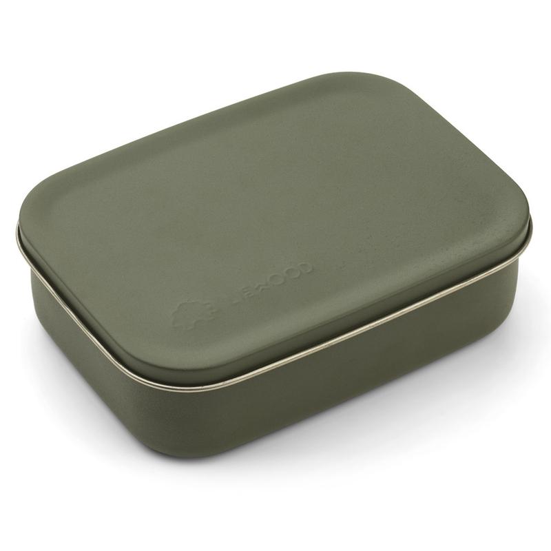 Brotdose aus Edelstahl khaki 21cm