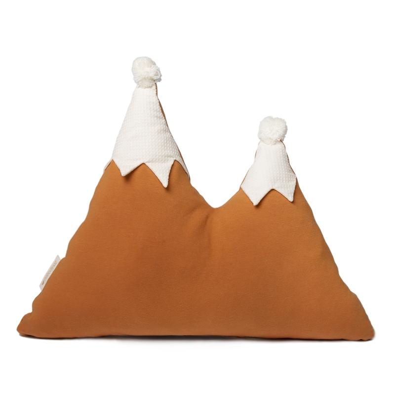 Bio Kissen 'Berge' camel ca. 42x50cm
