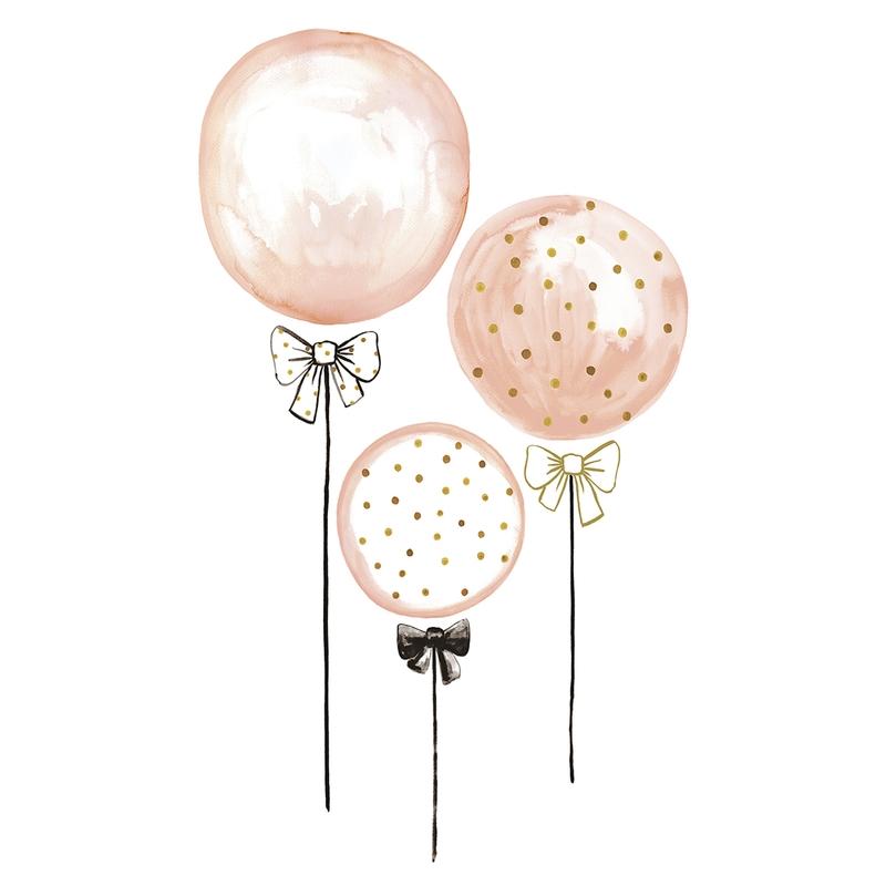 XL-Wandsticker 'Luftballons' puderrosa