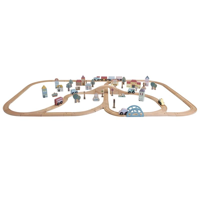 XL Eisenbahn-Set aus Holz ab 3 Jahren