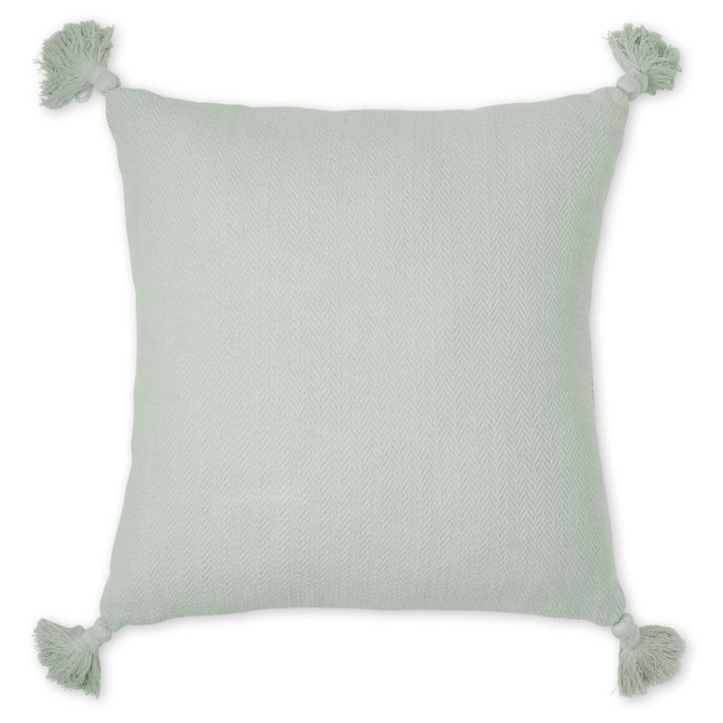 Bio Kissen aus Baumwolle grün 40x40cm