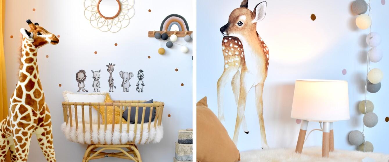 Wandsticker mit Tieren