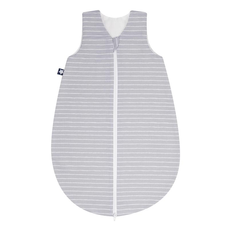 Sommerschlafsack 'Streifen' Jersey grau